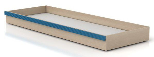 BRW Úložný box pod postel Caps SZU Dub světlý belluno/modrá