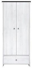 Skříň Porto SZF2D1S - modřín sibiu světlý