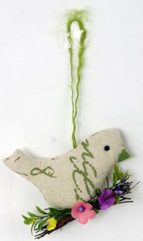 Textilní ptáček VAS700782