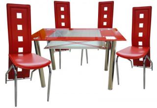 Jídelní židle F-131 červená