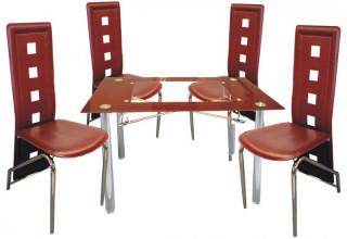 Jídelní židle F-131 vínová