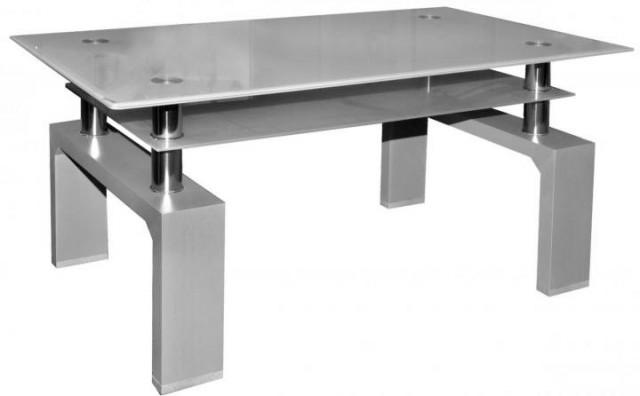Konferenční stolek A 08-3 šedá/šedé horní sklo