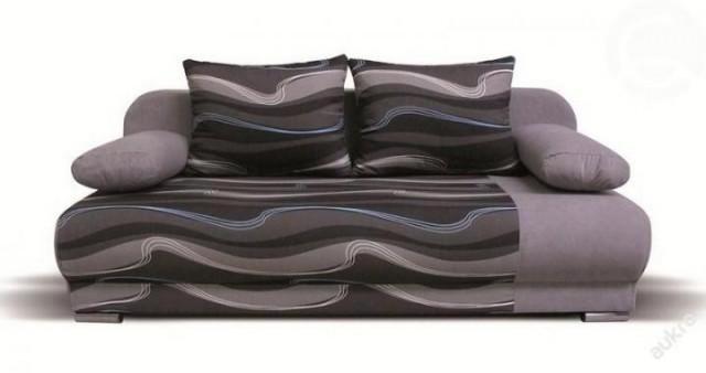 Pohovka Futon - šedá vlnky