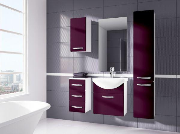 Koupelnová sestava Koral-fialová