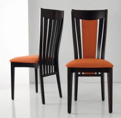 Jídelní židle Fiona - Dřevěný a Čalouněný opěrák