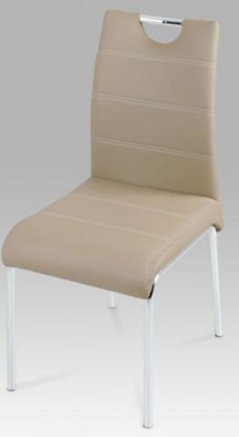 Jídelní židle AC-1122 - Béžová koženka
