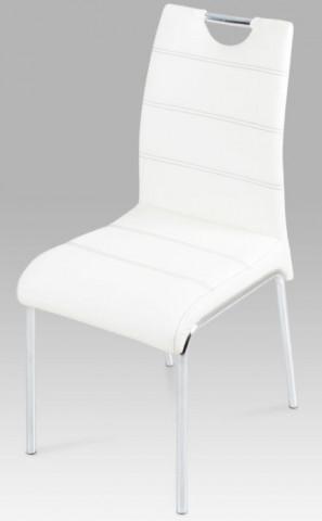 Jídelní židle AC-1122 - Bílá koženka
