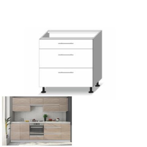 Kuchyňská skříňka LINE SONOMA D80 - 3 zásuvky