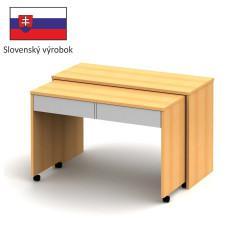 PC stůl VERSAL NEW - buk / bílá