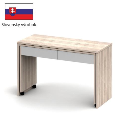 PC stůl VERSAL NEW - dub sonoma / bílá