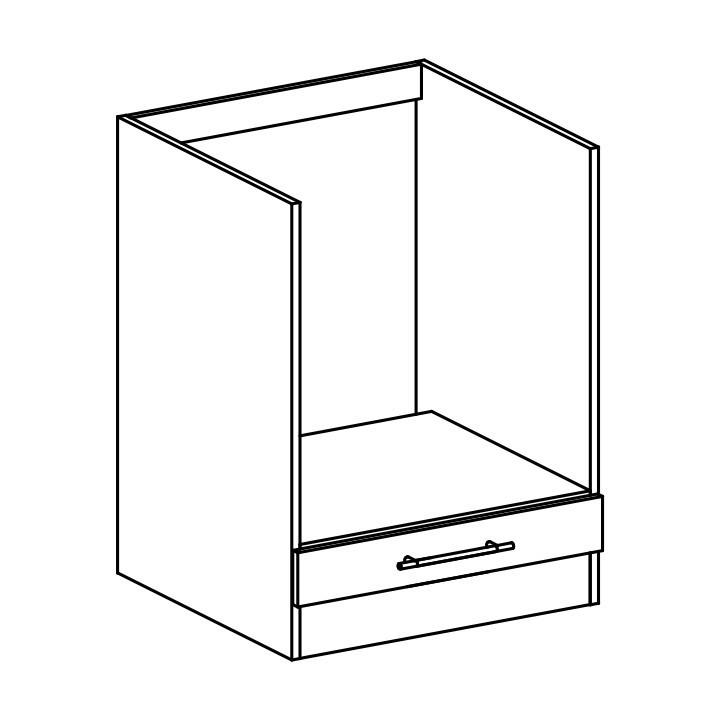 Dolní skříňka, dub sonoma / bílá, FABIANA S - 60SZ2