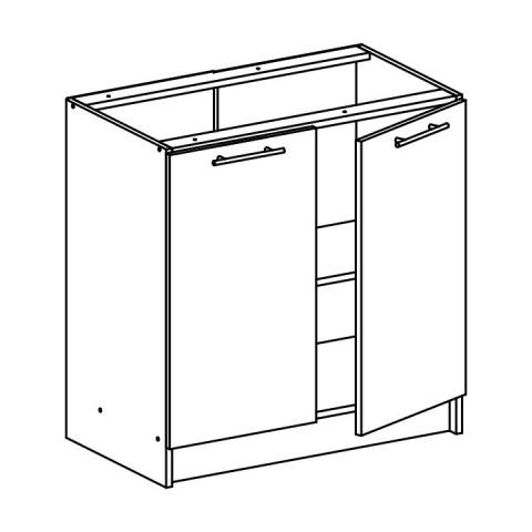 Dolní skříňka, dub sonoma / bílá, FABIANA S - 80