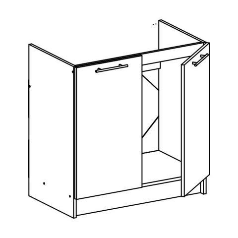 Dolní skříňka, dub sonoma / bílá, FABIANA S - 80ZL