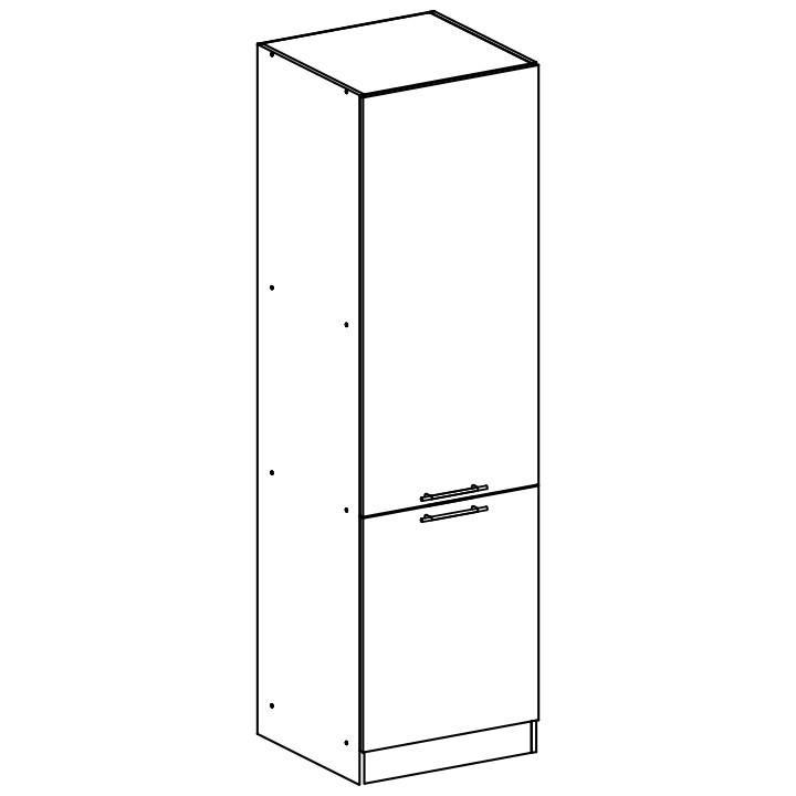 Tempo Kondela Potravinová skříňka, bílá, FABIANA S - 60/210