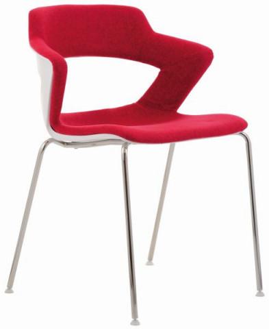 Konferenční židle 2160 TC Aoki - čalouněný sedák + opěrák + korpus