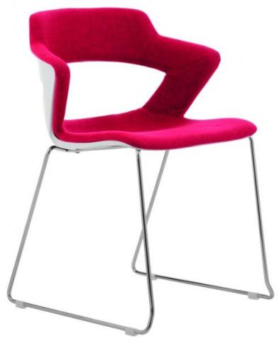 Konferenční židle 2160/S TC Aoki - čalouněný sedák + opěrák