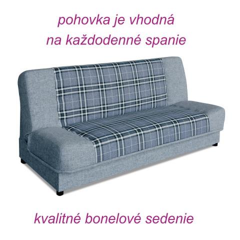 Pohovka KARO - šedá-bílá