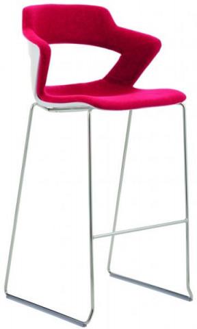 Barová židle 2160/SB TC Aoki - čalouněný sedák + opěrák