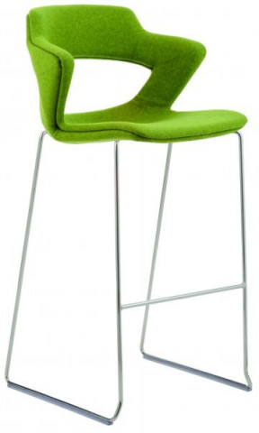Barová židle 2160/SB TC Aoki - čalouněný sedák + opěrák + korpus