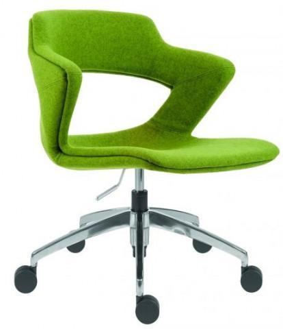 Konferenční židle Aoki ALU 2160 TC - čalouněný sedák + opěrák + korpus