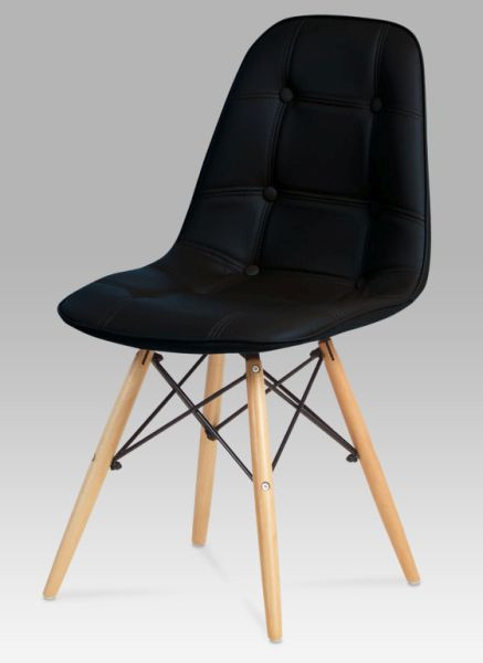 Autronic Jídelní židle CT-720 BK1 - černá koženka