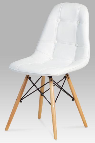 Autronic Jídelní židle CT-720 WT1 - bílá koženka