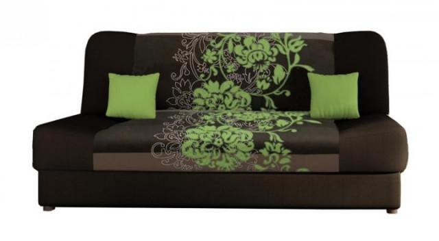Pohovka Jasmín - zelený květ