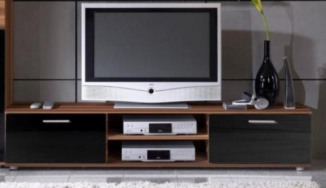 Televizní stolek Zara - švestka/černý