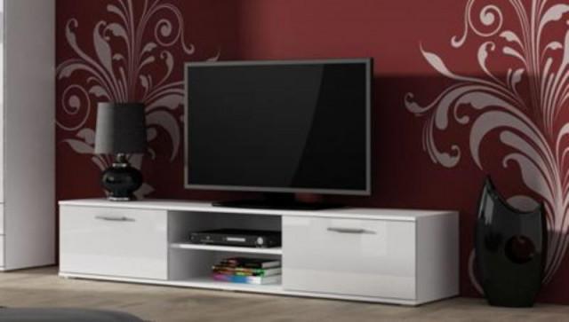 Televizní stolek SOHO 180 - bílá/bílá