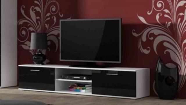 Televizní stolek SOHO 180 - bílá/černá