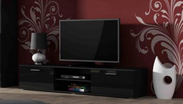 Televizní stolek SOHO 180 - černá/černá