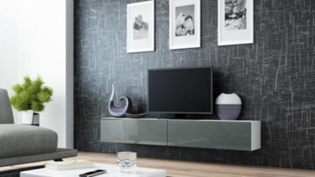 Televizní stolek VIGO 180 - bílá/šedá