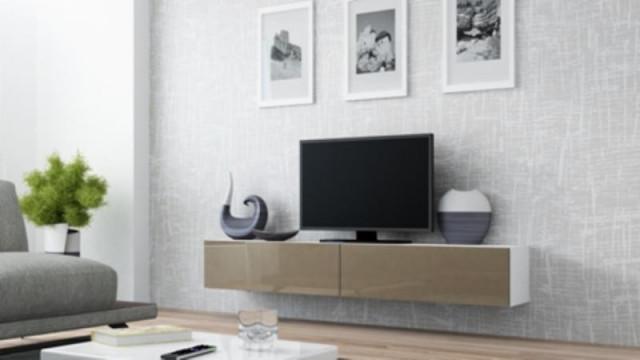 Televizní stolek VIGO 180 - bílá/latte