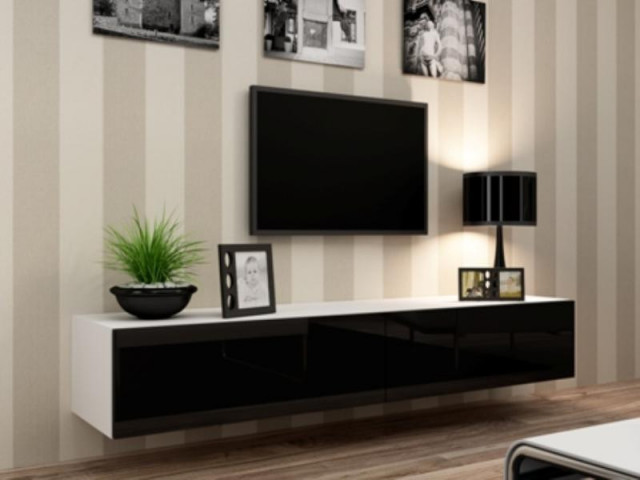 Televizní stolek VIGO 180 - bílá/černá