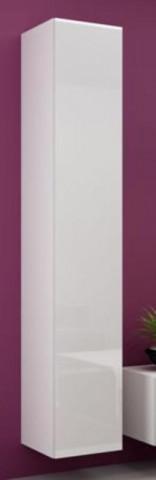 Vitrína VIGO vysoká, plná - bílá/bílá