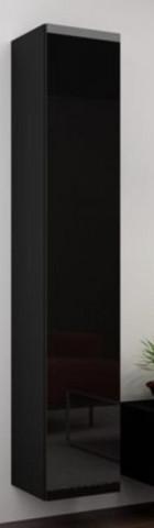 Vitrína VIGO vysoká, plná - černá