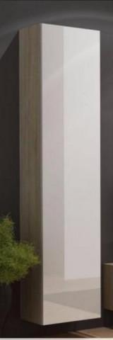 Vitrína VIGO vysoká, plná - dub Sonoma/bílý