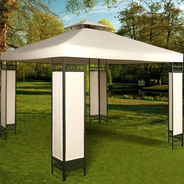 Luxusní zahradní altán s kovovou konstrukcí - 3 x 3 m
