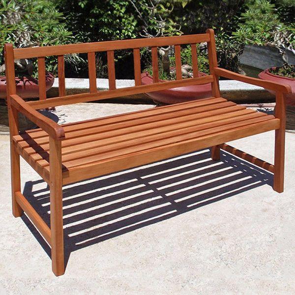 1dd6eaa348 Zahradní lavice z masivního dřeva - 120 x 90 cm