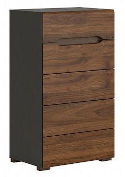 Komoda Elpasso KOM5S/60 - šedý wolfram/ořech kolumbia