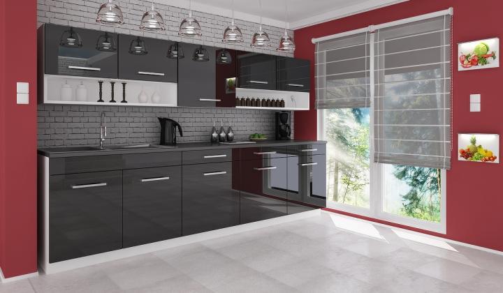 Kuchyňská linka Vanesa - černá