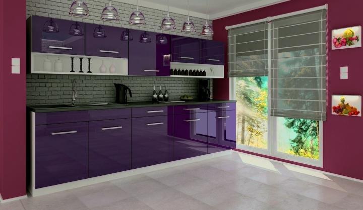 Falco Kuchyňská linka Vanessa - fialová Pracovní deska šíře 180 cm