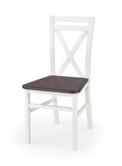 Dřevěná židle Dariusz 2 - Bílá/tmavý ořech