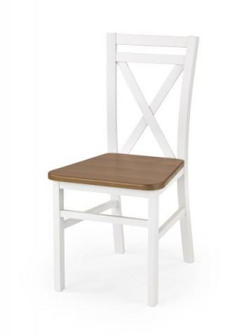 Dřevěná židle Dariusz 2 - Bílá/olše