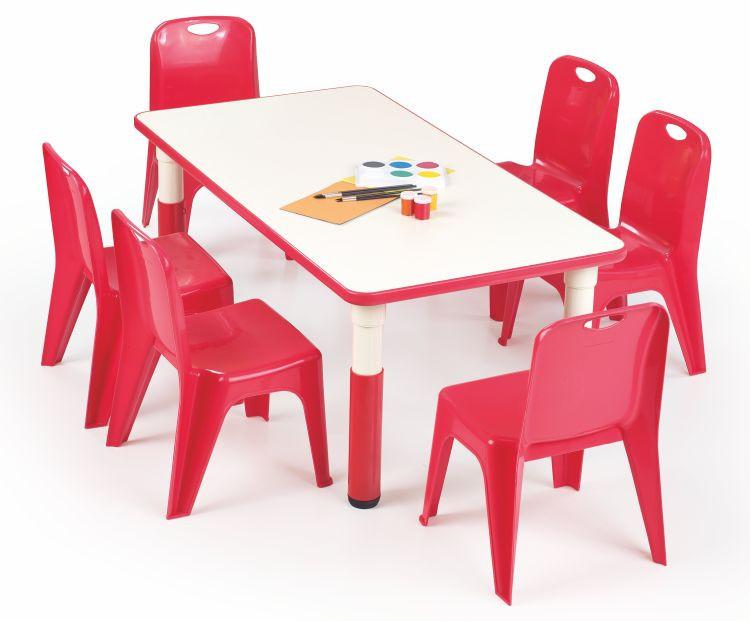 Dětský stoleček Simba obdélník - červený