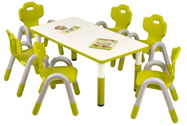 Dětský stoleček Simba obdélník - zelený