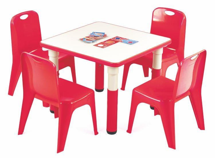 Halmar Dětský stoleček Simba čtverec - červený