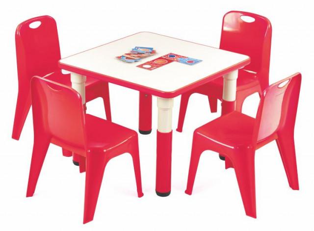 Dětský stoleček Simba čtverec - červený