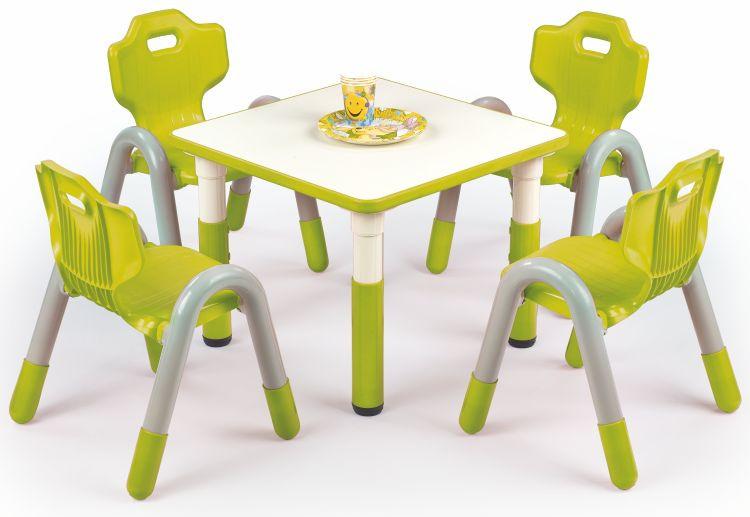 Halmar Dětský stoleček Simba čtverec - zelený
