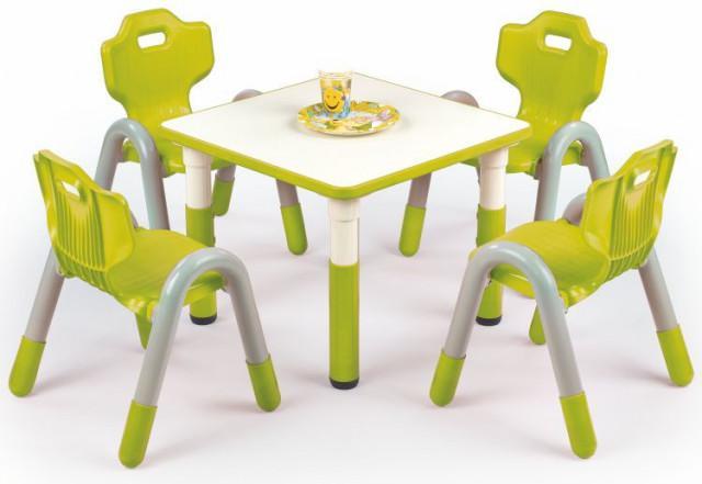 Dětský stoleček Simba čtverec - zelený
